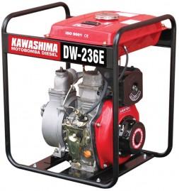 Motobomba Kawashima Diesel, 4,2HP, 211cc, 2',' DW 236-E, Centr�fuga Auto-Escorvante Partida El�trica, tq 12,5 L