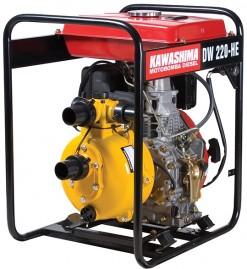 Motobomba Kawashima DW220HE, Diesel, Alta Press�o 100m, 2', 7hp, tq 12,5lts, Part.Eletrica