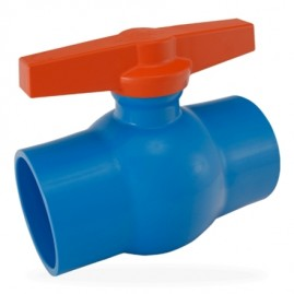 Registro esfera azul 40 mm de PVC saída soldável