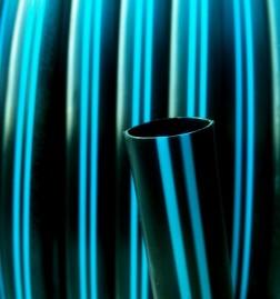 Tubo de Polietileno Virgem Faixa AZUL 16 mm PN 25 RL de 400 m PELBD