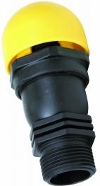 V�lvula de ar ventosa dupla fun��o com rosca de 3/4 polegadas