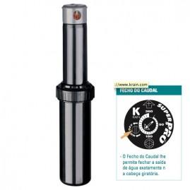 Aspersor escamoteável Rotor Super Pro com Shut-off raio de 8 a 15 m