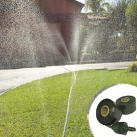Kit de irrigação Santeno Jardim com 15 m de mangueira micro perfurada verde