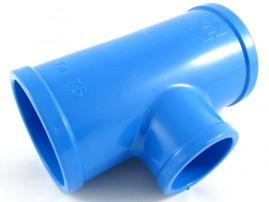 Tê soldável para irrigação 75 mm redução 50 mm