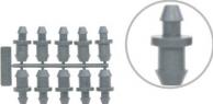 Tampão universal 4 e 6 mm para tampar furos em mangueira PE contém 10 peças