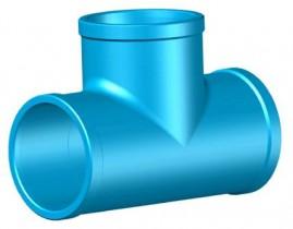 Tê soldável para irrigação pvc 50 mm